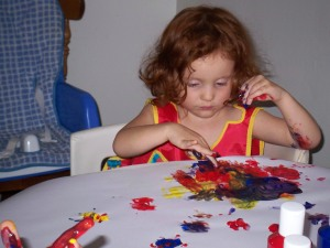 finger arm painting