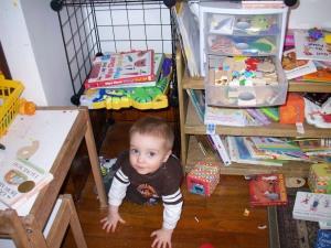 Hiding Under the New Shelves