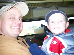 Daddy and Burke on the Train