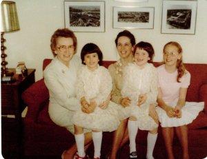 Grandma, Sharon, Mom, Nancy, Cathy