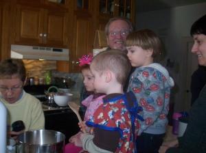 Nana, Maggie, Burke, Grandpa, Cousin Grey, Aunt Sharon