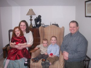 Family Picture - Easter Morning