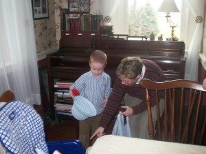 Easter Egg Hunt - Burke and Nana