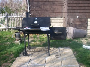 Grill with Side Smoker