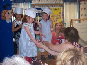 Receiving Her Diploma