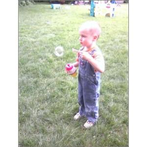 Burke Blowing Bubbles