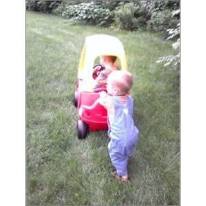 Logan pushing Burke