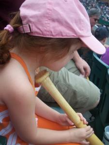 Each kid going in received a baseball bat
