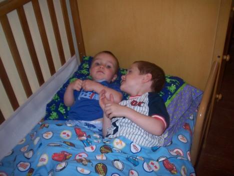 Logan in Burke's Bed 8.18.2009