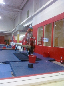 Marjorie on the Balance Beam